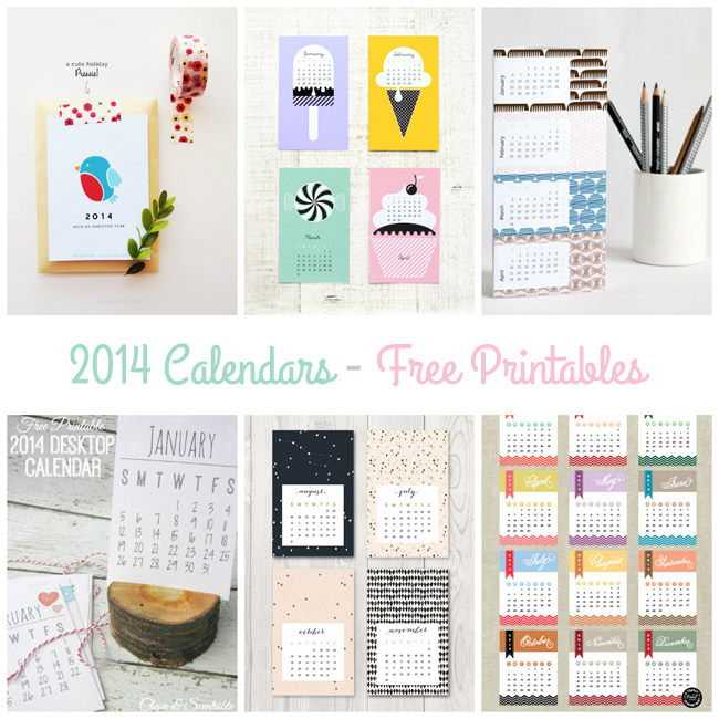 2014 Calendars - Beautiful FREE Printables