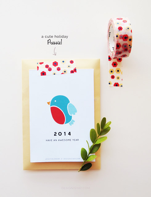 """Year of Colour"" Printable Calendar 2014"