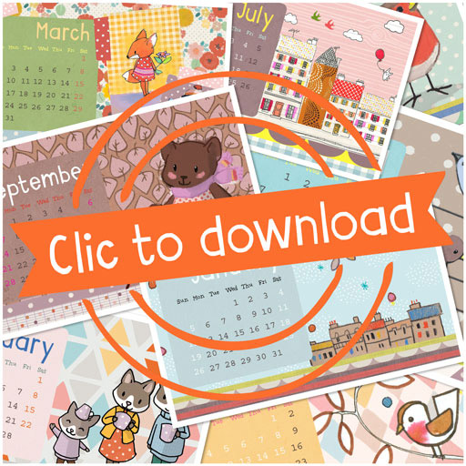 Illustrated 2014 Printable Calendar