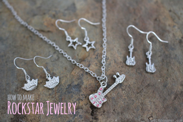 How to make Rock Star Jewelry - thediydreamer.com