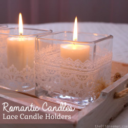 Romantic Lace Candle Holders - thediydreamer.com