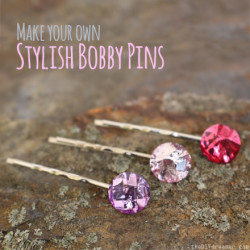 Stylish Bobby Pins - DIY Hair Jewels - thediydreamer.com
