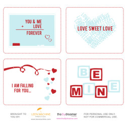 Valentine Printables - FREE V-Day Cards