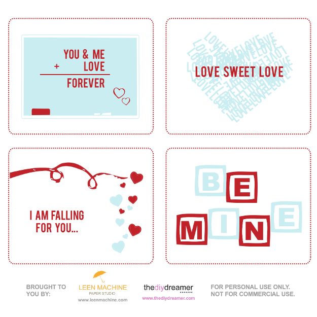 Valentine Printable – Free V-Day Cards
