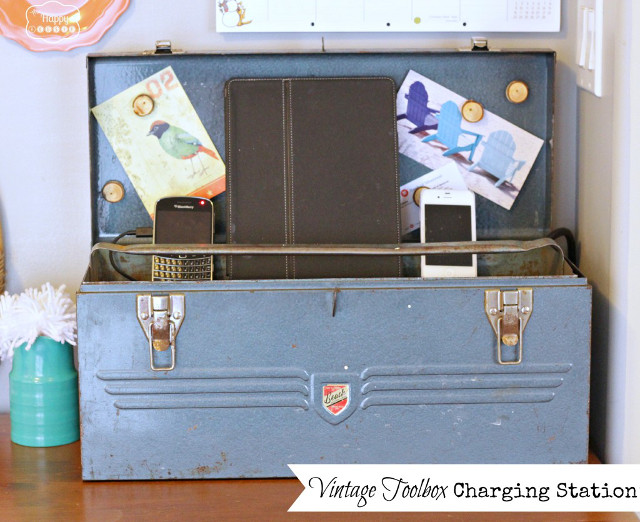 Vintage Tool Box Charging Station
