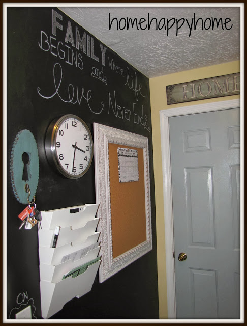 Mudroom Update with Chalkboard Wall