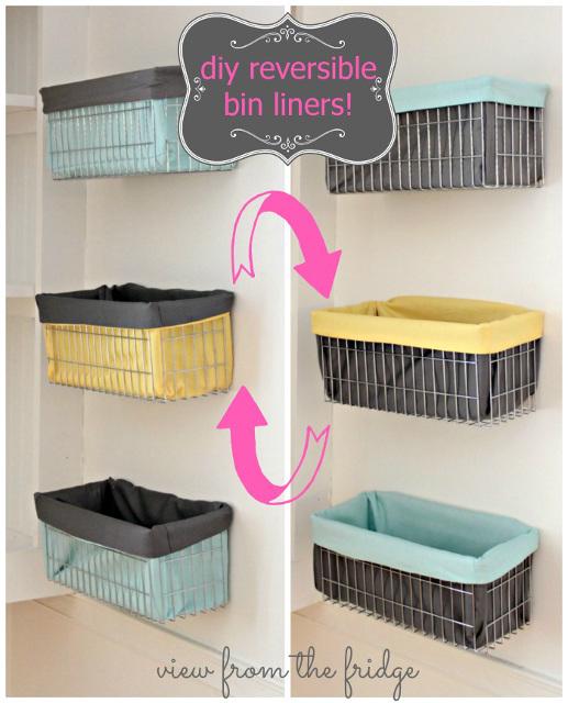 DIY Reversible Bin Liners
