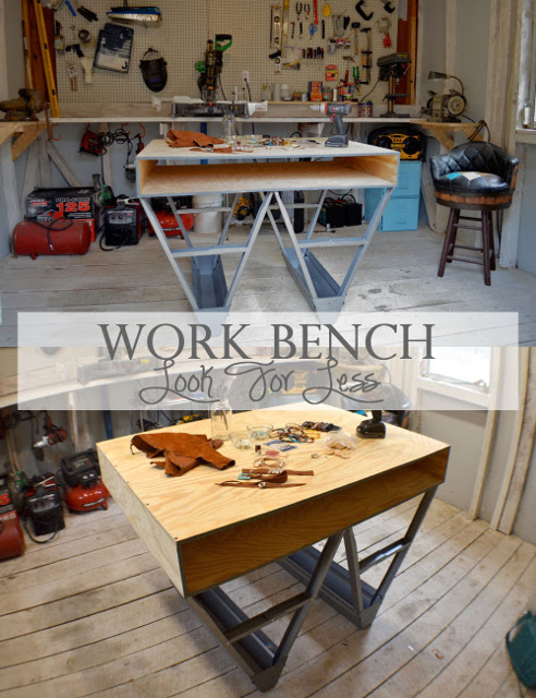 DIY Workbench Look for Less