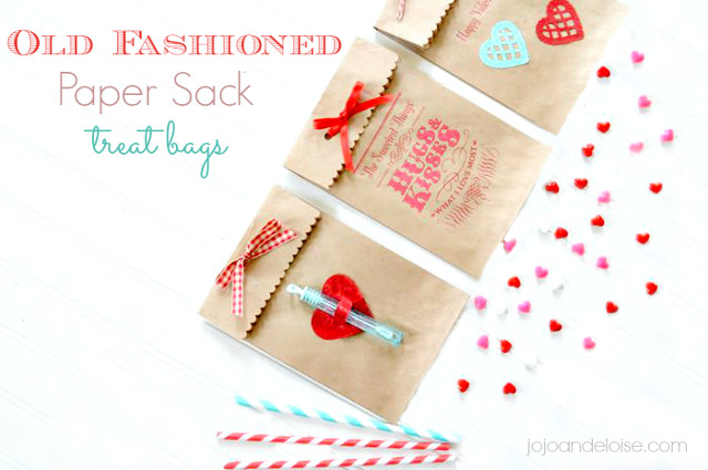 Old Fashioned Paper Sack Treat Bags