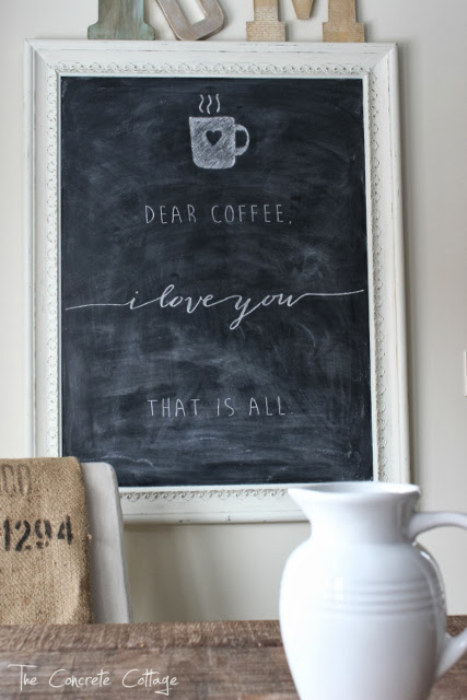 Dear Coffee I Love You That Is All - Chalkboard Sign
