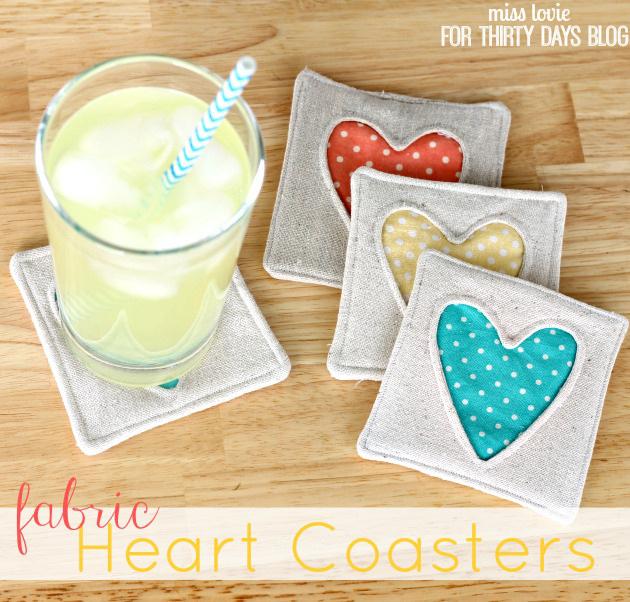 Fabric Heart Coasters - Tutorial