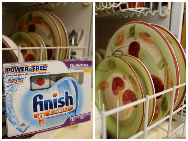Clean dishes with Finish® Power & Free™ - #FinishPowerAndFree