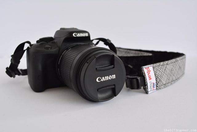 PhatStraps - Smokey Ash - Black Minky - Canon Camera Straps
