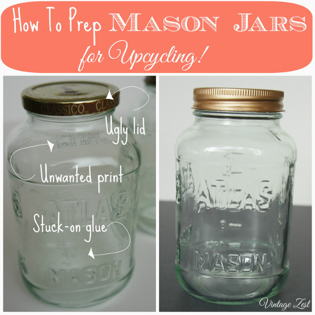 How to clean Mason Jars before starting a project