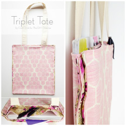 Triplet Tote Sewing Tutorial for Beginners - #sewing101 #sewing #sewingforbeginners