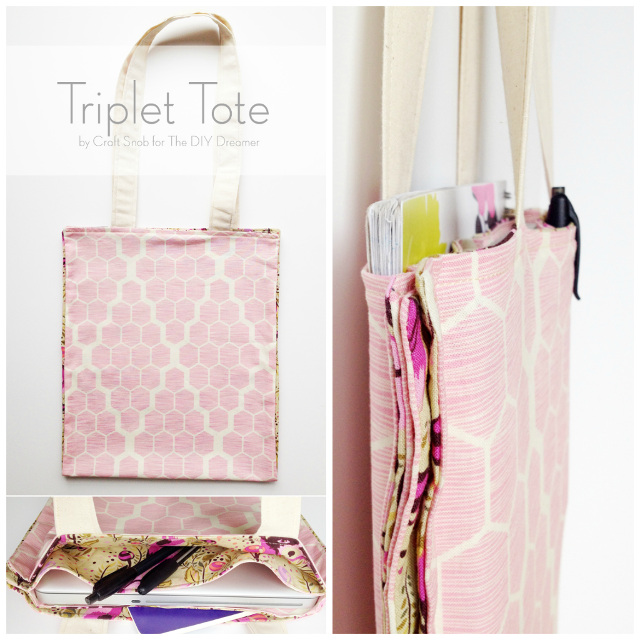 Triplet Tote Sewing Tutorial for Beginners