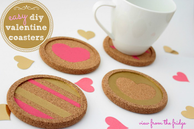 Easy Valentine's Coasters