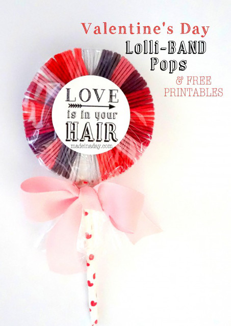 Hair Band Lollipops & Free Printable