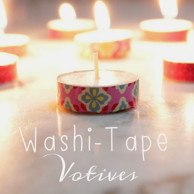 Washi Tape Votives