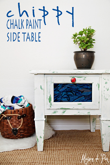Chippy Paint Side Table