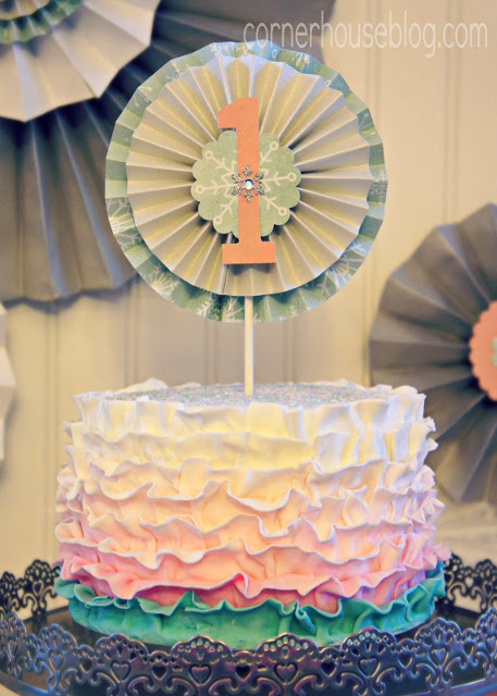 Beautiful Fondant Ruffle Cake