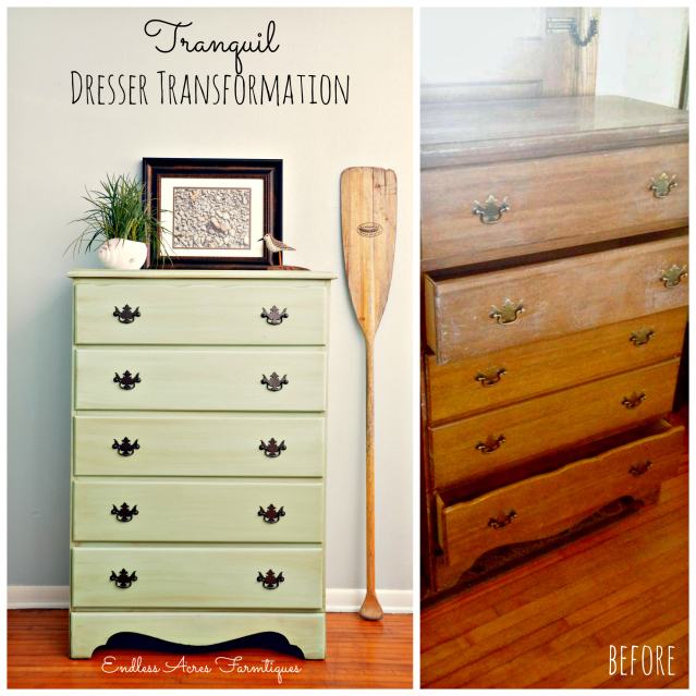 Beautiful Tranquil Dresser Transformation