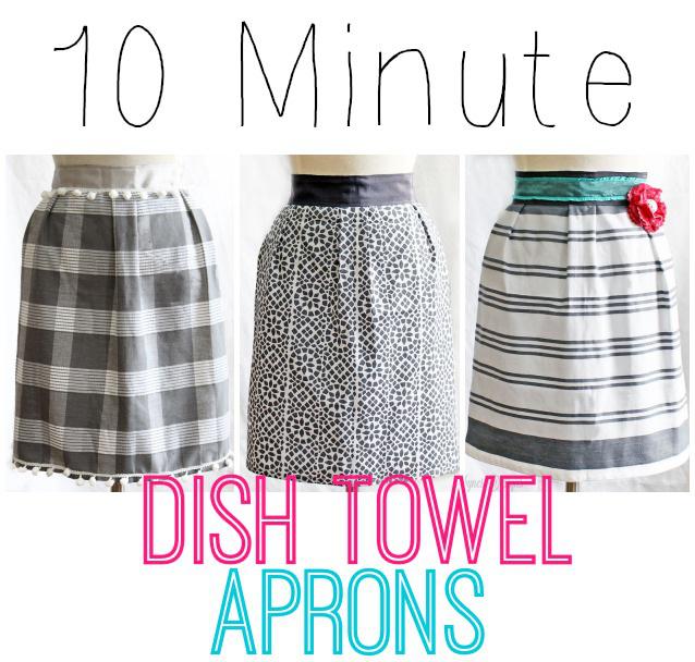 10 Minute Dish Towel Aprons - Tutorial