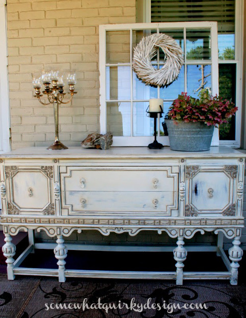 Annie Sloan Chalk Paint Old White Buffet Makeover