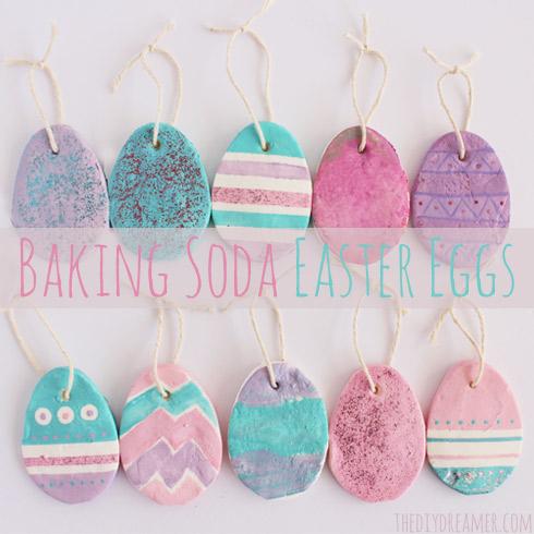 Baking Soda Easter Eggs { Easter Ornaments }
