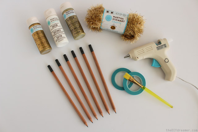 Supplies needed to decorate pencils