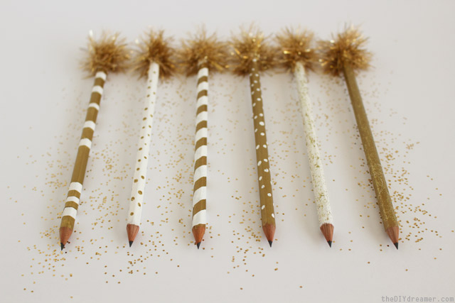 Decorative Golden Pencils