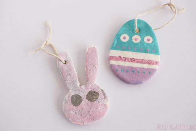Baking Soda Ornaments - Easter Bunny and Eggs