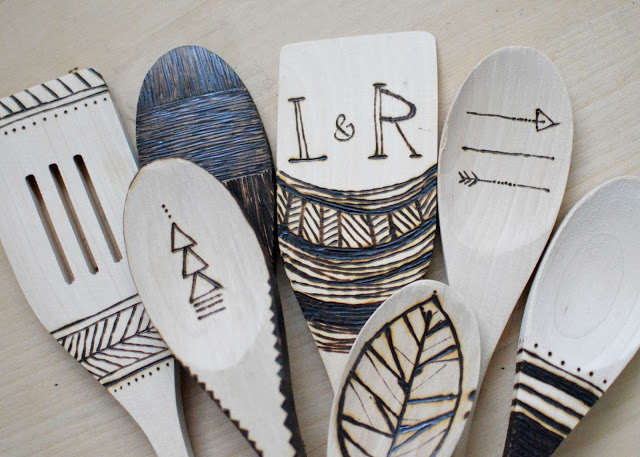 Etched Wood Utensils