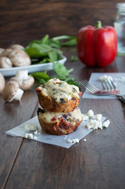 Garden Vegetable and Feta Muffins