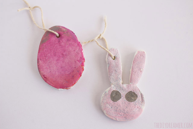 Baking Soda Ornaments - Easter Bunny and Egg