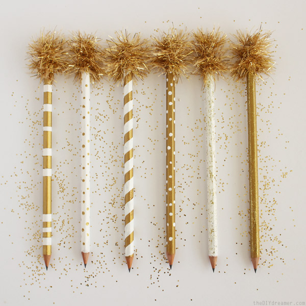 Gold Pencils - So fun to decorate