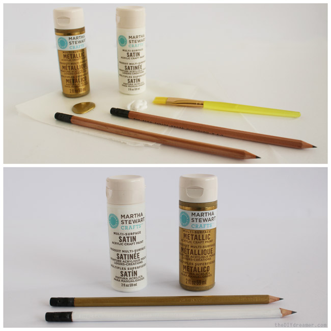 How to paint pencils