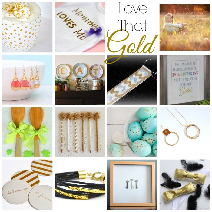 Love that Gold 15 Golden Projects to Inspire - 15 Gold Projects