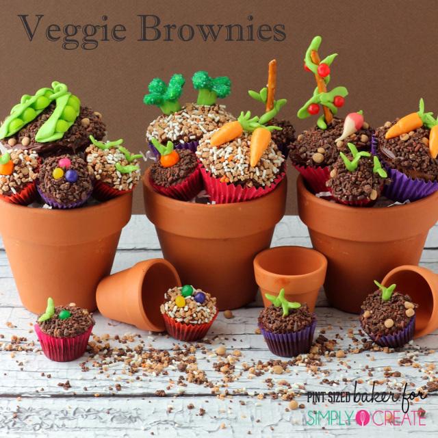 Veggie Brownies - Garden Dessert