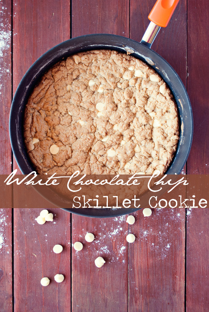 White Chocolate Chip Skillet Cookie