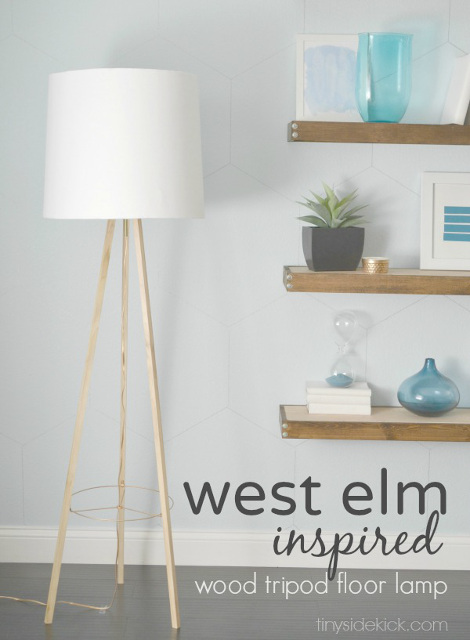 DIY Wood Tripod Floor Lamp