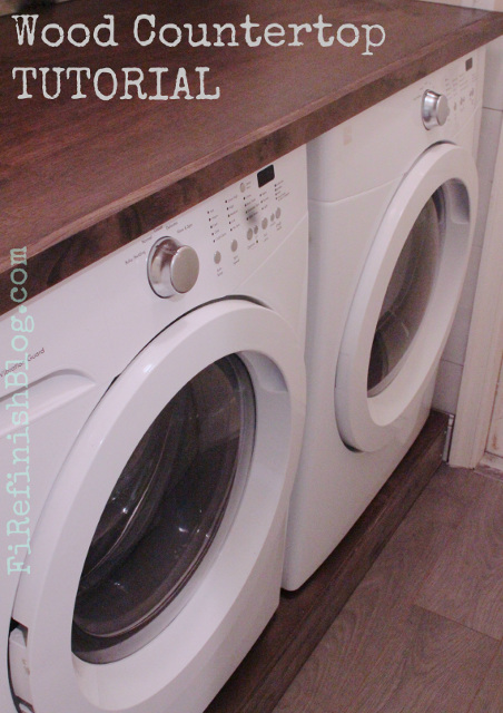 Laundry Room Wood Countertop Tutorial