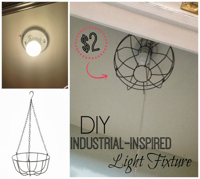 Dollarstore DIY Industrial Light Fixture