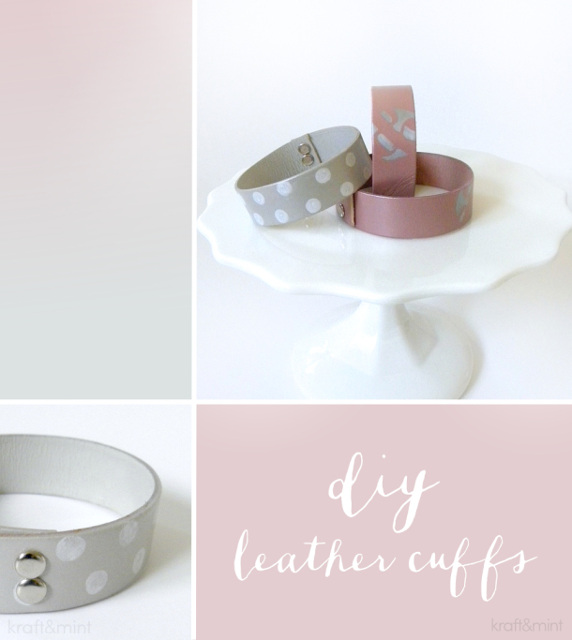 DIY Leather Cuff Bracelets - Tutorial