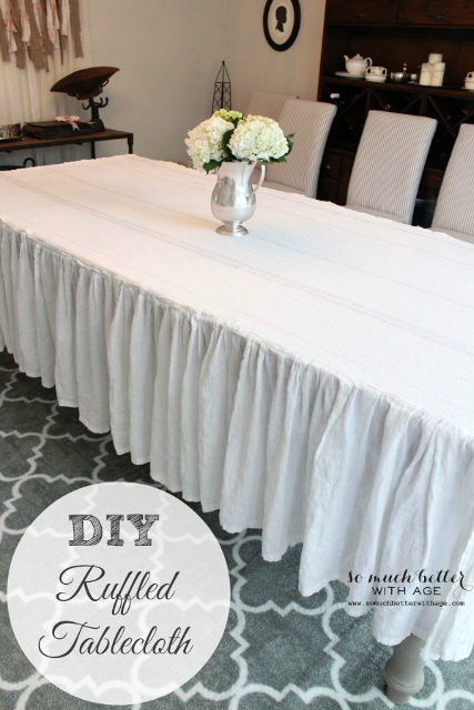 How to make a ruffled tablecloth - Tutorial