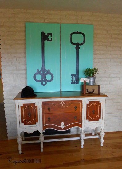 Big Key Wall Canvases