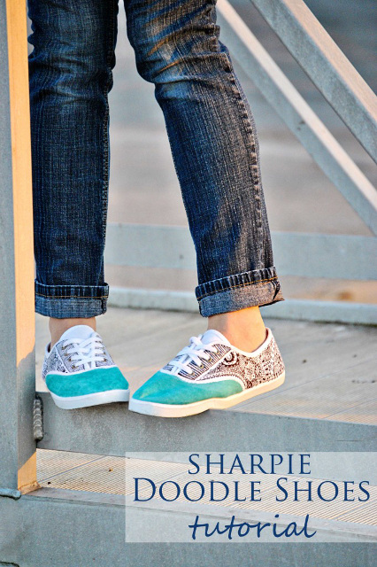 DIY Sharpie Doodle Shoes Tutorial