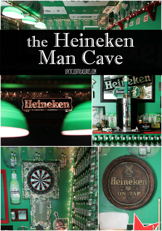 The Heineken Man Cave Basement by Upcycled Treasures