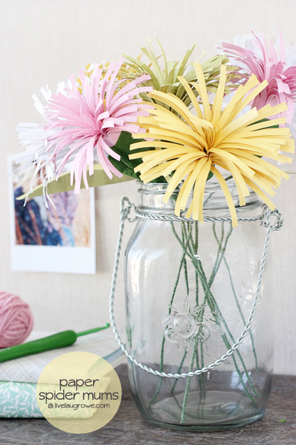 Paper Spider Mums Tutorial