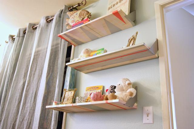 Gorgeous DIY Geometric Shelves